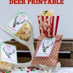 Simple gift idea and deer printable from Jen of Elevate Everyday for Bake Craft Sew