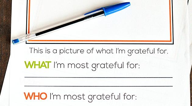 I'm Grateful For…Thanksgiving Printable