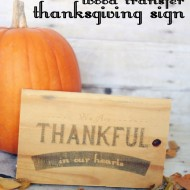 DIY Wood Transfer Thanksgiving Sign