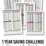 1 year saving challenge for adults and kids with free printables! www.thirtyhandmadedays.com