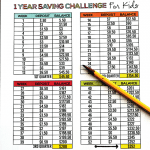 1 Year Saving Challenge Printables