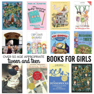 Over 50 Tween & Teen Appropriate Books for Girls