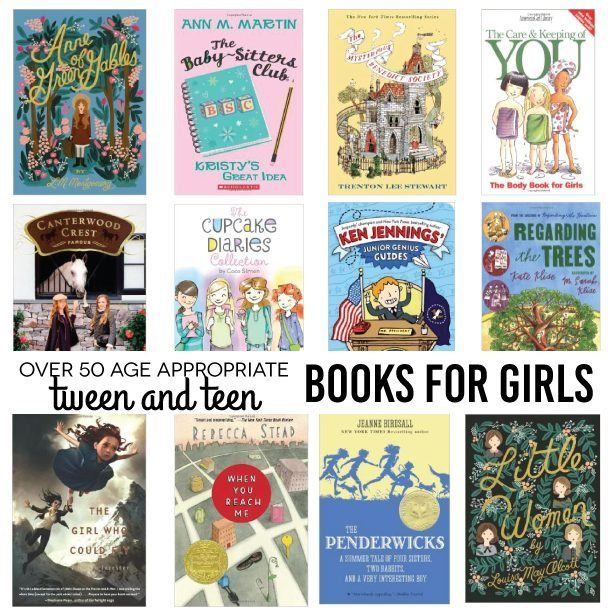 Over 50 Age Appropriate Tween and Teen Books for Girls. Fun holiday gift ideas! www.thirtyhandmadedays.com