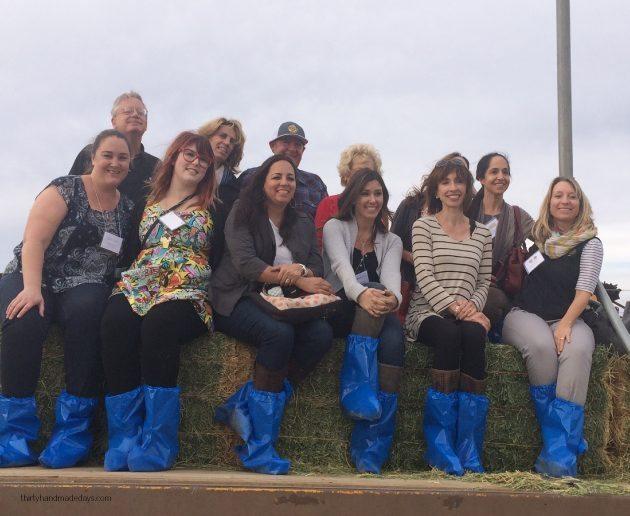 CA Milk Advisory Board Farm Tour group - on the farm  Thirty Handmade Days