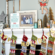 Our Christmas Mantel + My Love of Vintage and Gold