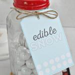 Snow Mason Jar Gift