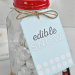 Edible Snow Mason Jar Gift Idea- a simple and sweet gift idea for the holidays. | Thirty Handmade Days