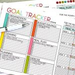 Printable Goal Trackers - sheets to help you track your goals for the new year. Or any time of year! Featuring weekly and monthly, blank and with titles. From Thirty Handmade Days.