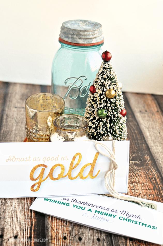 Printable Gold Money Holder For Christmas