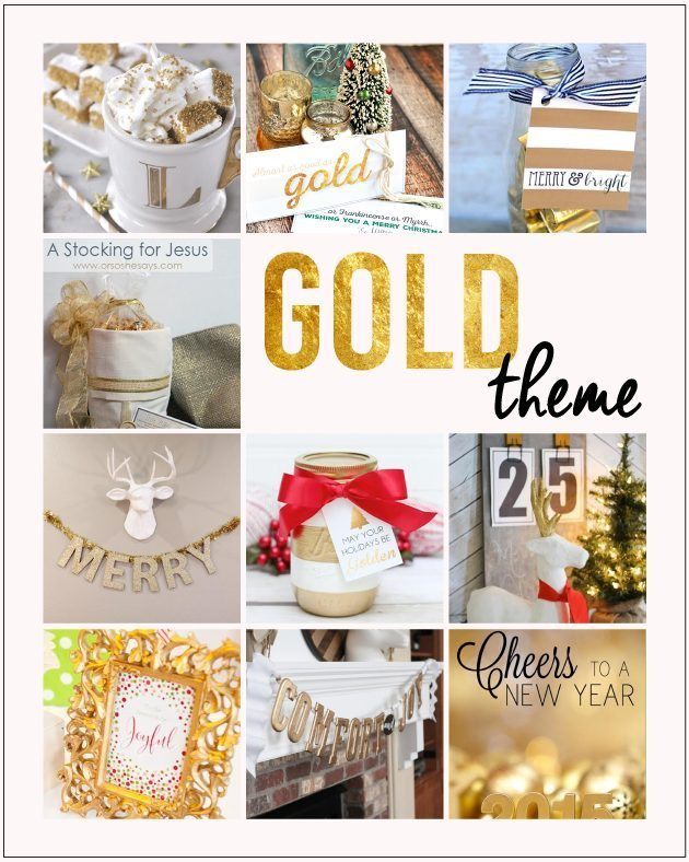Monthly blog hop - this month's theme is Gold!