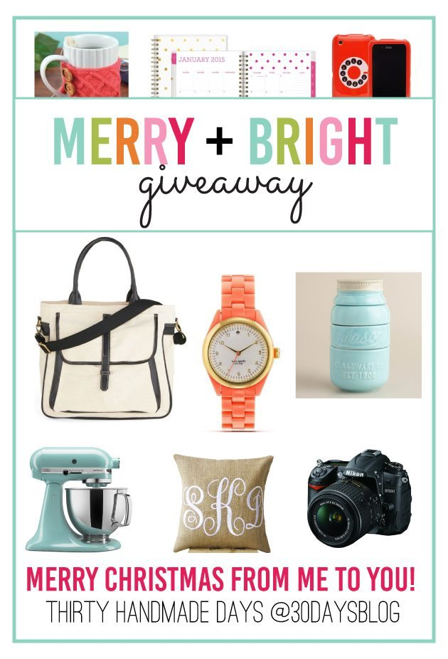 Merry & Bright Amazon Giveaway from www.thirtyhandmadedays.com