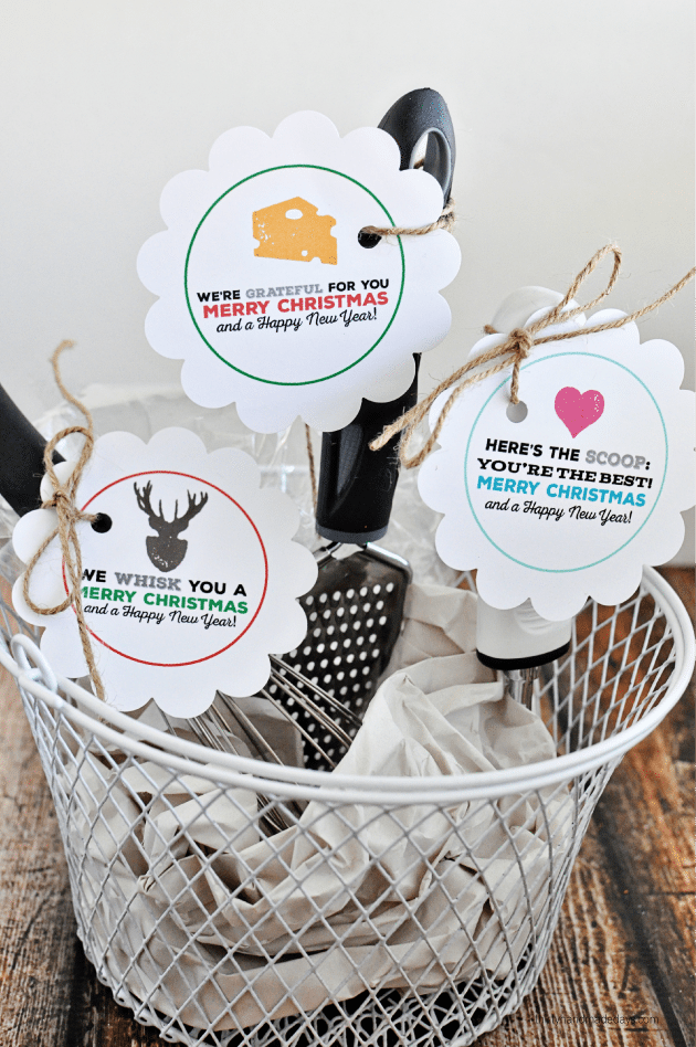 Simple kitchen Christmas Gifts with printable tags -   Thirty Handmade Days