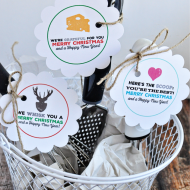 Printable Christmas Tags for Kitchen Gifts + California Milk Advisory Board Tour