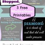 5 Motivational Printables