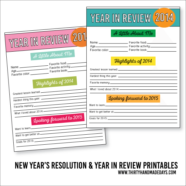 year end review template - 20 new years free printables lolly jane