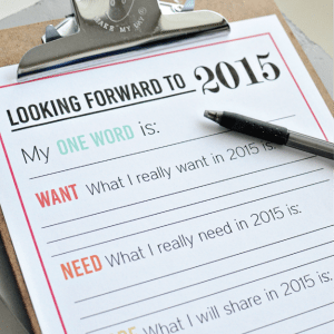 New Year's Resolutions for YOU - free printable for the new year | Thirty Handmade Days