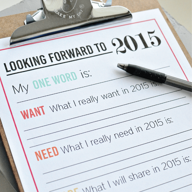 New Year's Resolutions for YOU - free printable for the new year   Thirty Handmade Days