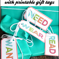 Simplifying Christmas: Want, Need, Wear, Read Gift Idea