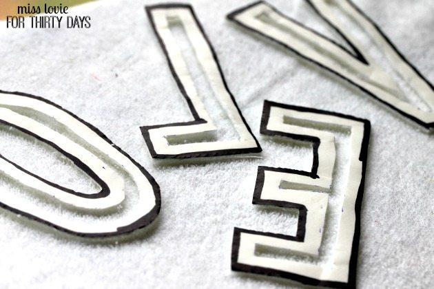 08 Cut Out Block Letter Applique