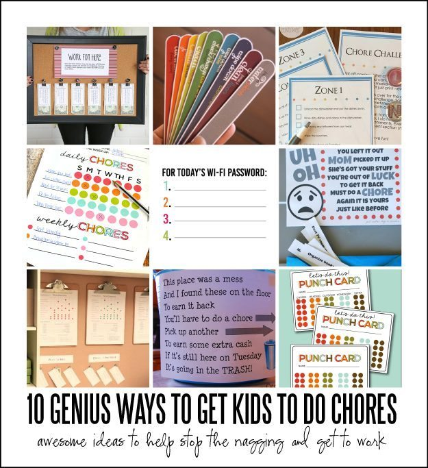 10 Genius Ways to Get Kids to Do Chores  via Thirty Handmade Days