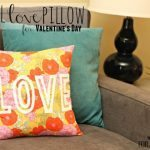 Floral Love Pillow for Valentine's Day