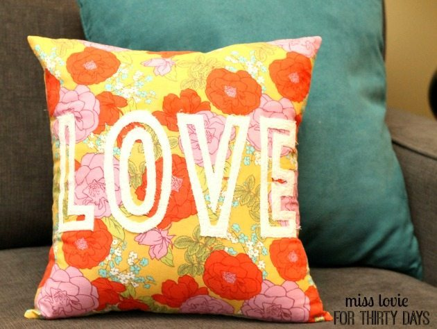 Floral Valentine's Day Pillow
