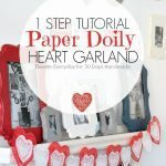 1 Step Paper Doily Heart Garland