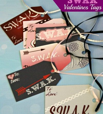 SWAK Printable Valentine's Tags