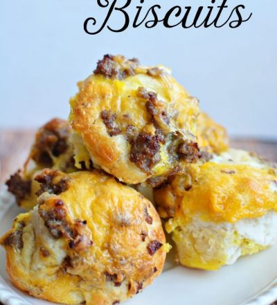 Super easy to make Breakfast Biscuits - cheesy, sausage, biscuit goodness! www.thirtyhandmadedays.com