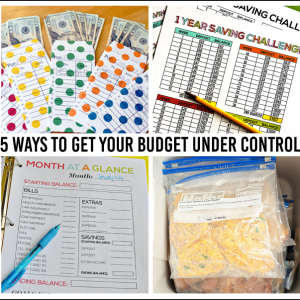 5 Ways to Get Your Budget Under Control - simple tips to better finances in the new year!