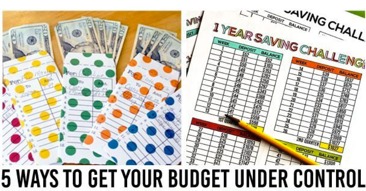 5 Ways to Get Your Budget Under Control