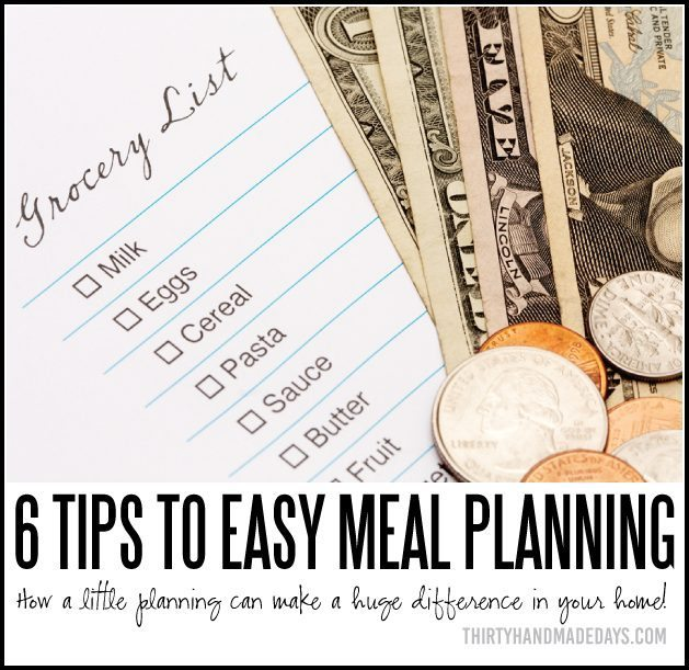 Meal Planning Tips - how a little planning can make a huge difference in your home!