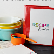 Printable Mini Recipe Binder