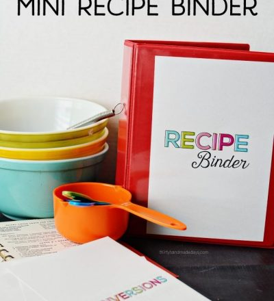 Mini Recipe Binder - perfect little binder to store favorite family recipes from www.thirtyhandmadedays.com