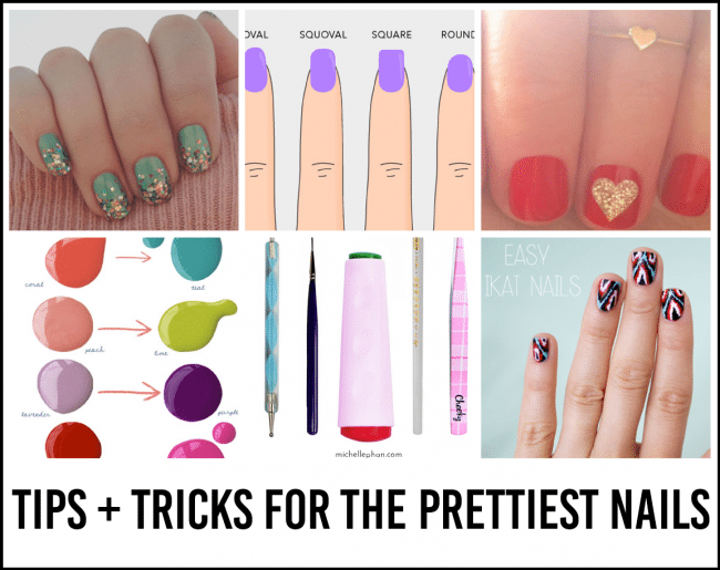 Nail tips and tricks - ideas for the prettiest nails www.thirtyhandmadedays.com