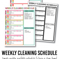 A Simple List to Keep Your Home Clean: Printable Weekly Cleaning Schedule