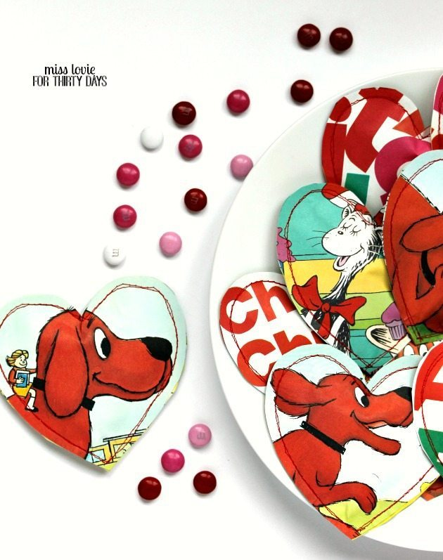 07 Children's Book Candy Filled Heart Pouches