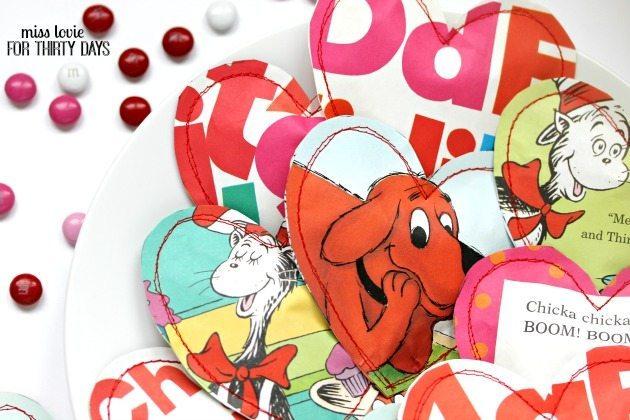 09Children's Book Sewn Heart Pouches Valentine's Day