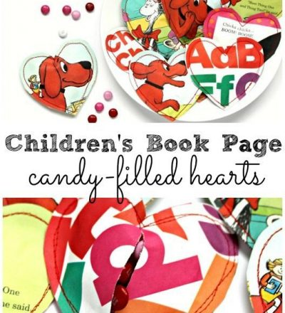 Children's Book Page Candy Filled Hearts