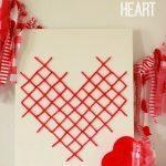 Yarn Cross Stitch Heart