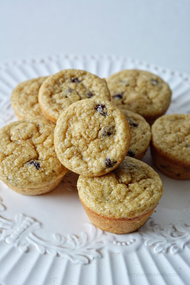 Simple and healthy banana oatmeal blender muffins.  Give them a try!  .thirtyhandmadedays.com