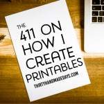The 411 on How I Create Printables
