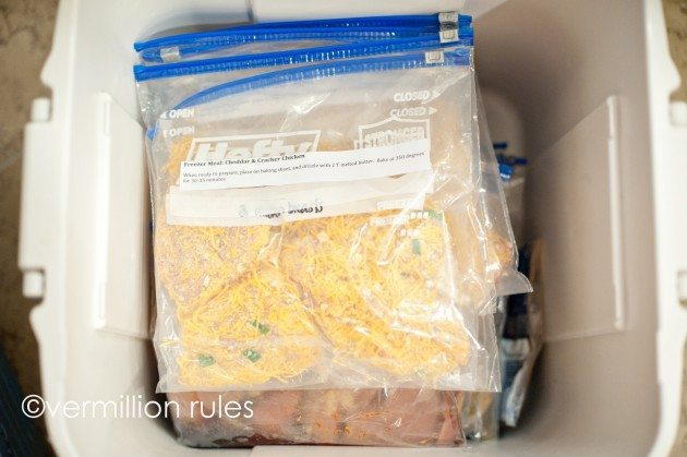 Learn how to host a freezer meal activity and more tips! from Vermillion Rules for Thirty Handmade Days
