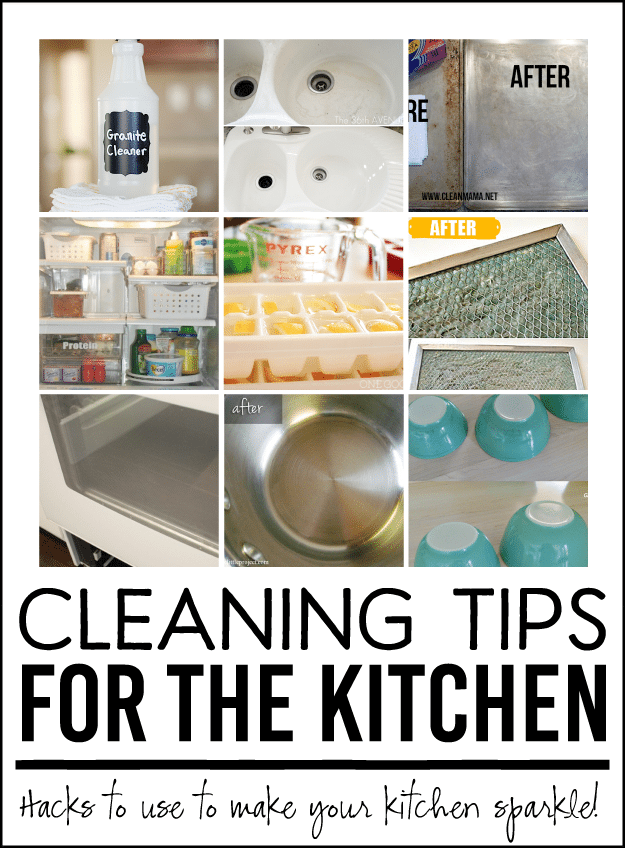 Cleaning Tips for the Kitchen! Awesome hacks to make your kitchen sparkle.
