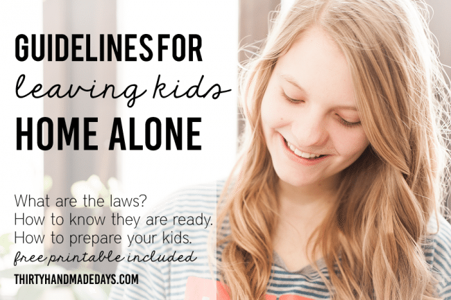 What Age Can Kids Stay Home Alone? [Guidelines + Printable]