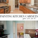 Painting your kitchen cabinets- you can do it!