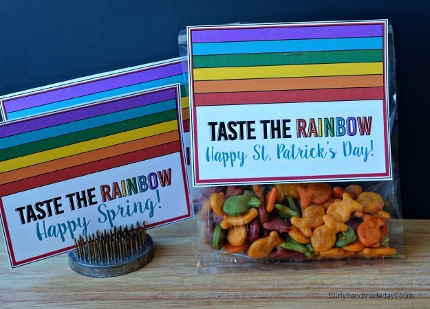 Printable Rainbow Tags for St. Patrick's Day, Spring & Easter from Thirty Handmadedays.com