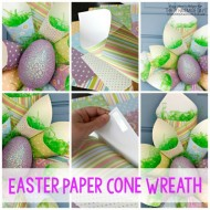 Easter Paper Cone Wreath