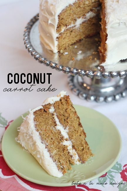 Coconut Carrot Cake by bebe a la mode designs