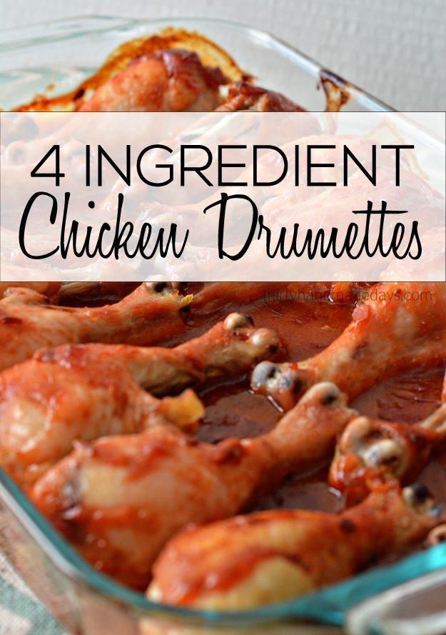 4 Ingredient Chicken Drumettes from Thirty Handmade Days
